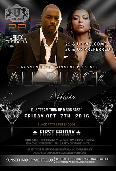 all black affair flyer infinite creations atlanta