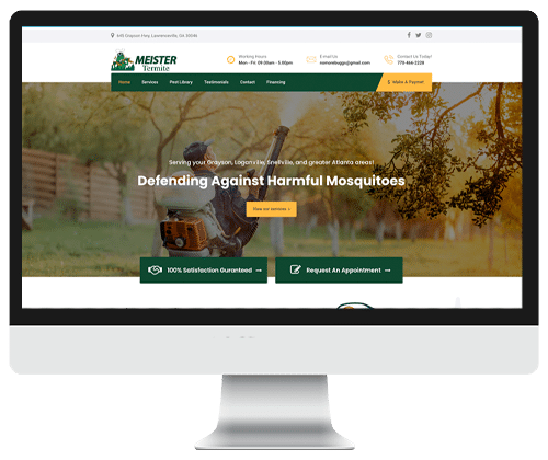 Meister Termite Web design by Infinite Creations Atlanta