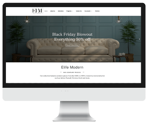 Elife Modern website design and powered by Infinite Creations Atlanta