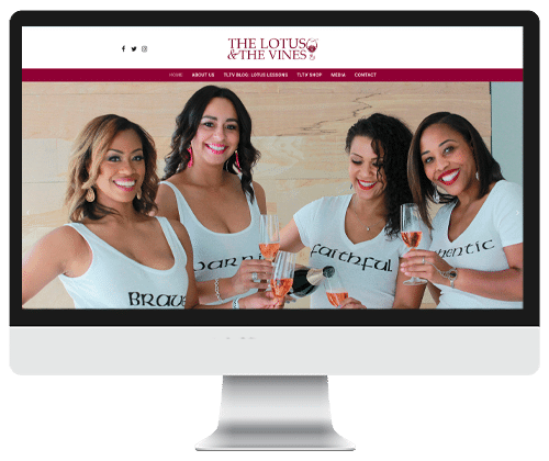The Lotus and The Vines website design by Infinite Creation Atlanta