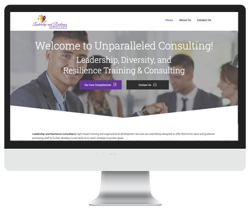 Leadership and Resilience Consultants website design by Infinite Creations Atlanta