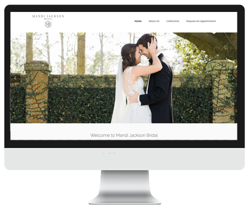 Mandi Jackson Bridal website design | Infinite Creations Atlanta
