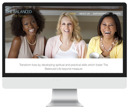 The balanced life now website design by Infinite Creations Atlanta