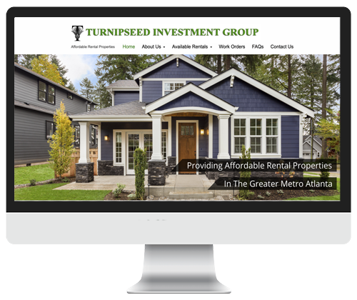 Turnipseed Investment Group website design by Infinite Creations Atlanta