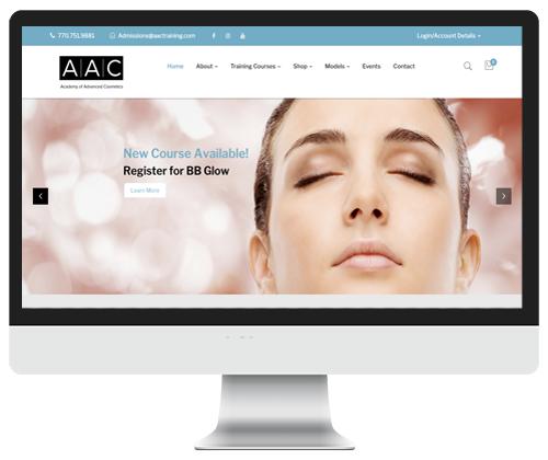AAC website design by Infinite Creations Atlanta