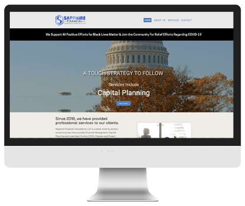 Sapphire-Financial Consultants website Design by Infinite Creations Atlanta