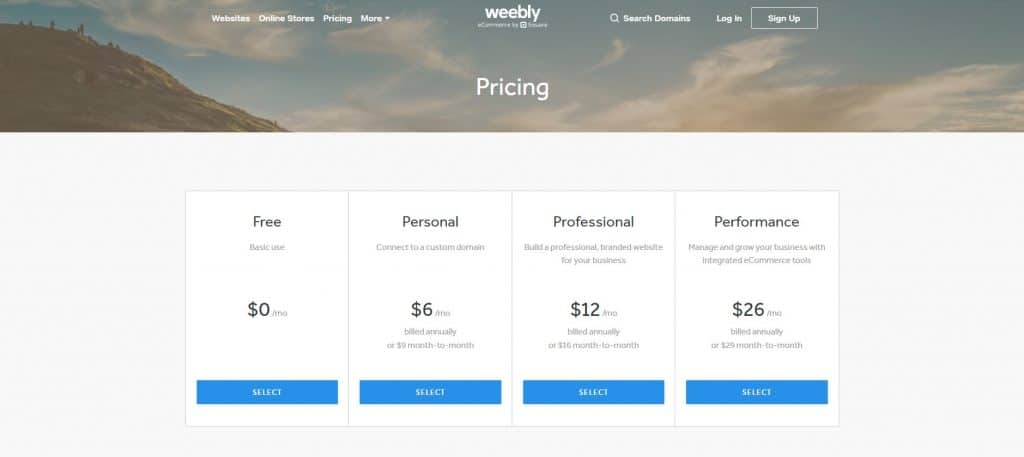 Weebly Pricing - Infinite Creations Atlanta