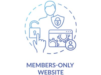 Website Members-Only Website